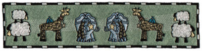 """Embroidery Design: And They Came Two by Two...8.48"""" x 1.96"""""""