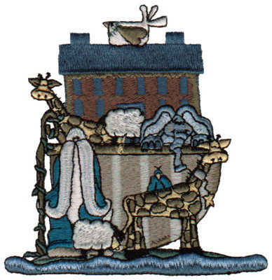 "Embroidery Design: Noah's Full Ark3.89"" x 4.02"""