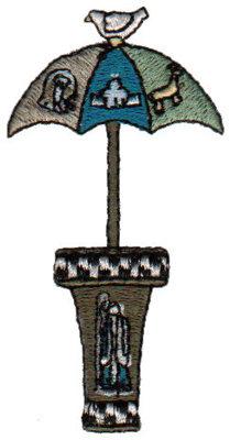 """Embroidery Design: Umbrella Stand1.53"""" x 3.00"""""""