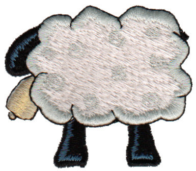 """Embroidery Design: Sheep2.49"""" x 2.11"""""""