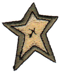 """Embroidery Design: Star1.29"""" x 1.56"""""""