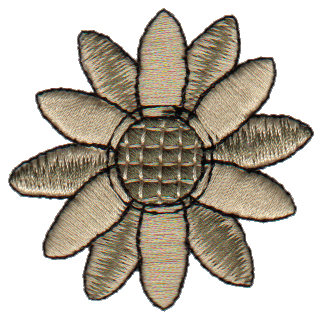 """Embroidery Design: Snickerdoodle Daisy2.04"""" x 2.03"""""""