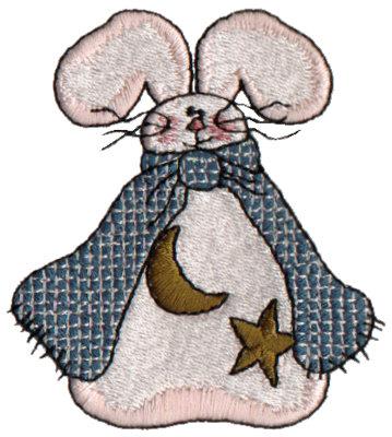 "Embroidery Design: Celestial Bunny2.72"" x 2.97"""