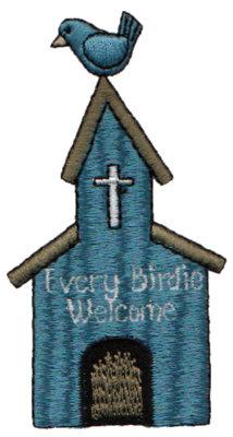 "Embroidery Design: Every Birdie Welcome Birdhouse1.89"" x 3.52"""