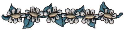 """Embroidery Design: Daisy Border4.03"""" x 0.92"""""""