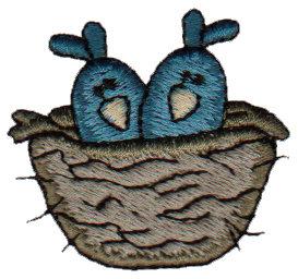 "Embroidery Design: Birdies in Nest1.73"" x 1.55"""