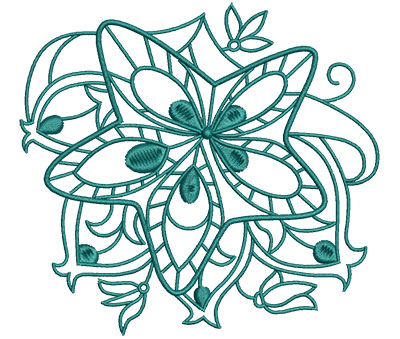 Embroidery Design: Sea Flora starfish 5.03w X 4.64h