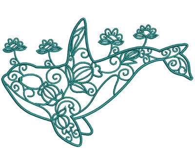 Embroidery Design: Sea Flora Beluga 6.02w X 4.06h