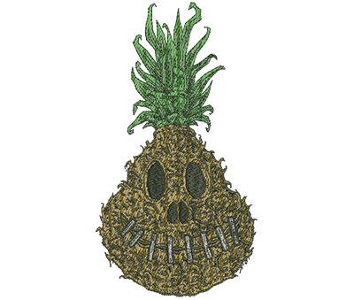 Embroidery Design: Shrunken Pineapple Realistic Lg 4.93w X 9.00h