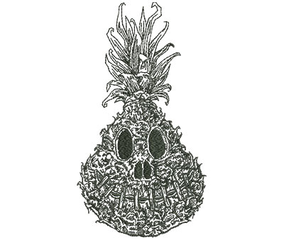 Embroidery Design: Shrunken Pineapple Outline Med 4.39w X 8.00h