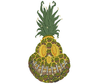 Embroidery Design: Shrunken Pineapple Med 3.58w X 6.96h