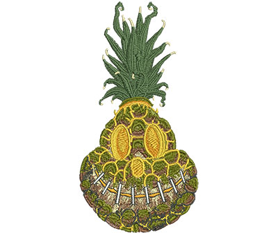 Embroidery Design: Shrunken Pineapple Sm 3.06w X 5.97h