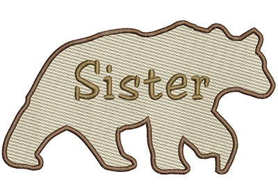 Embroidery Design: Sister Bear 6.97w X 3.91h