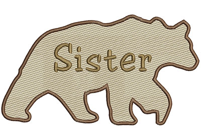 Embroidery Design: Sister Bear Lg 8.66w X 4.86h