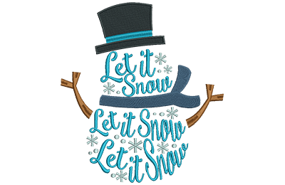 Embroidery Design: Snowman Lettering Lg 7.20w X 7.96h