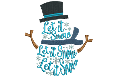 Embroidery Design: Snowman Lettering Med 6.28w X 6.96h