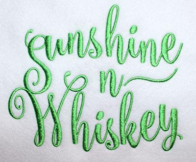 Embroidery Design: Sunshine N Whiskey Lg 6.82w X 5.64h