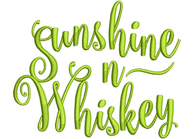 Embroidery Design: Sunshine N Whiskey Med 5.46w X 4.51h