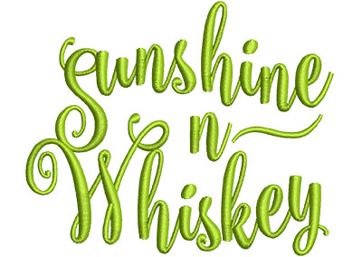 Embroidery Design: Sunshine N Whiskey Sm 4.10w X 3.39h