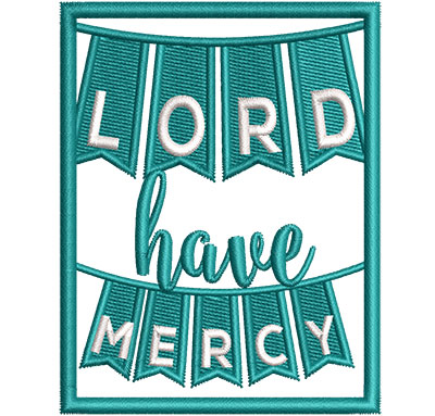 Embroidery Design: Lord Have Mercy Sm 2.63w X 3.39h