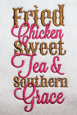 Embroidery Design: Southern Grace Lg 2.96w X 5.64h