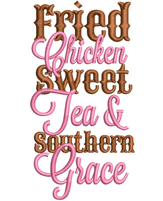 Embroidery Design: Southern Grace Med 2.37w X 4.51h