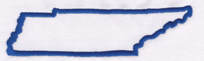 """Embroidery Design: Tennessee Outline1.45"""" x 5.23"""""""