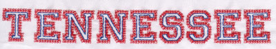 """Embroidery Design: Tennessee Name1.03"""" x 8.05"""""""