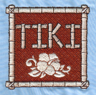 "Embroidery Design: Tiki Mat (small)2.96"" x 2.95"""