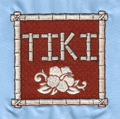 "Embroidery Design: Tiki Mat (large)3.99"" x 3.97"""
