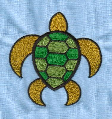 """Embroidery Design: Sea Turtle (small)2.90"""" x 2.98"""""""