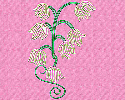 Embroidery Design: Lily of the Valley3.81w X 5.38h
