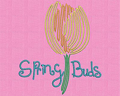 Embroidery Design: Tulip 5.06w X 5.69h