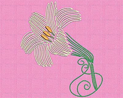Embroidery Design: Lily 5.44w X 6.38h