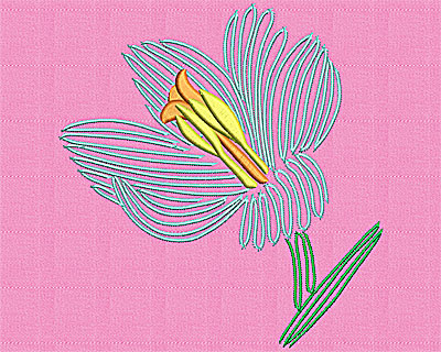 Embroidery Design: Lily 5.69w X 6.06h