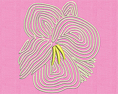 Embroidery Design: Flower artistic 4.19w X 4.69h