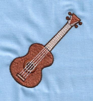 "Embroidery Design: Ukelele (small)2.93"" x 2.96"""