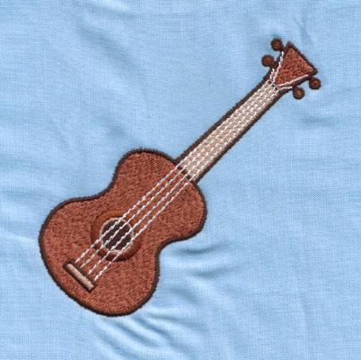 """Embroidery Design: Ukelele (large)3.94"""" x 3.99"""""""