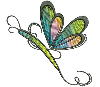 Embroidery Design: Abstract Dragonfly C 4.53w X 4.59h