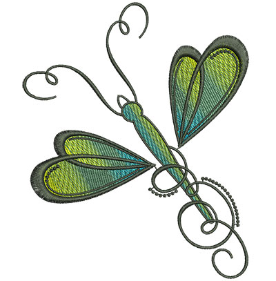 Embroidery Design: Abstract Dragonfly E 4.52w X 5.61h