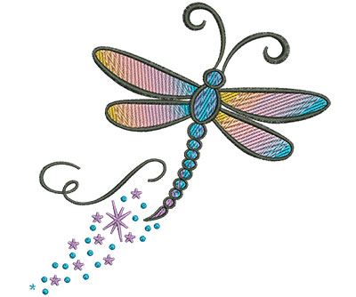 Embroidery Design: Abstract Dragonfly G 4.51w X 4.46h