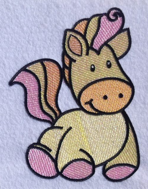 Embroidery Design: Magical Mylar Horse 6 4.88w X 6.52h