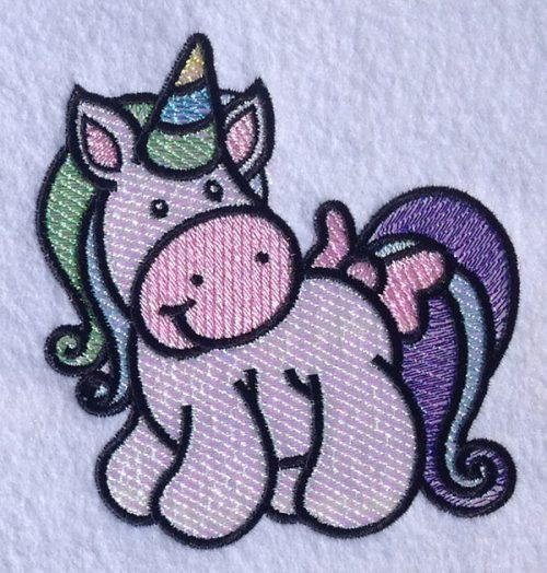Embroidery Design: Magical Mylar Horse 8 4.22w X 4.61h