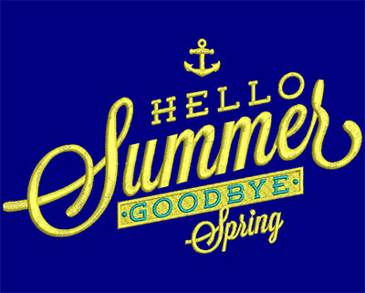 Embroidery Design: Hello Summer Goodbye Spring Small 6.67w X 4.00h