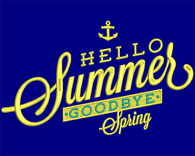 Embroidery Design: Hello Summer Goodbye Spring Large 8.33w X 4.99h