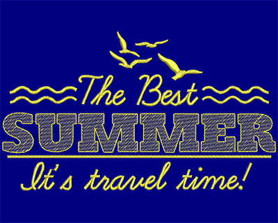Embroidery Design: The Best Summer Large 7.26w X 4.23h