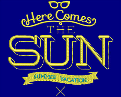 Embroidery Design: Here Comes The Sun Small 5.48w X 4.98h