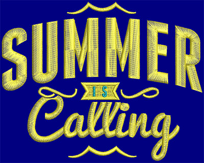 Embroidery Design: Summer Is Calling Small 5.74w X 4.57h
