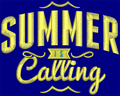 Embroidery Design: Summer Is Calling Large 7.17w X 5.71h