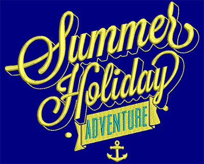 Embroidery Design: Summer Holiday Adventure Small 6.94w X 5.74h